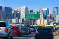 San francisco city traffic in rush hour with downtown skyline california usa Stock Images