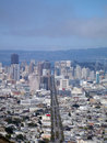 San Francisco Cityscape looking down market street Royalty Free Stock Photos