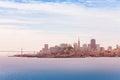 San Francisco downtown and Oakland Bay Bridge Royalty Free Stock Photo