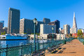 San Francisco downtown from pier 7 California Royalty Free Stock Photo