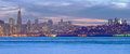 San francisco at dusk high resolution panorama of the skyline Royalty Free Stock Photos