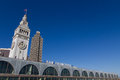 San Francisco Ferry Building with clock tower Royalty Free Stock Photos