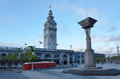 San Francisco Ferry Building with PCC streetcar Royalty Free Stock Photo