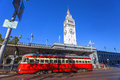 San Francisco Ferry Building and Train Car Royalty Free Stock Photo