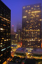 San Francisco Financial District Misted Over Stock Photography