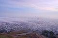 San francisco with fog Royalty Free Stock Photo
