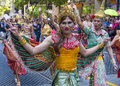 San francisco gay pride june an unidentified asians participants at the annual parade on june Stock Images