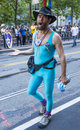 San francisco gay pride june an unidentified participant at the annual parade on june Stock Photography