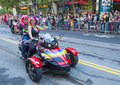 San francisco gay pride june an unidentified participants on a motorcycle at the annual parade on june Royalty Free Stock Photo