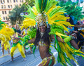 San francisco gay pride june an unidentified samba dancers participates at the annual parade on june Royalty Free Stock Photography