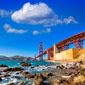 San francisco golden gate bridge marshall beach california ggb from in usa Stock Photography