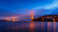 San Francisco Golden Gate Bridge at night Royalty Free Stock Photo