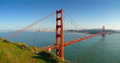 San Francisco Golden Gate Bridge Panoramic Royalty Free Stock Photo