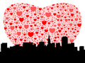 San Francisco with hearts Stock Image