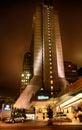 San francisco hilton financial district en la noche Fotografía de archivo libre de regalías