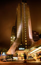 San francisco hilton financial district la nuit Photographie stock libre de droits
