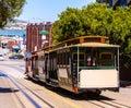 San francisco Hyde Street Cable Car California Royalty Free Stock Photo