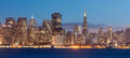 San francisco at night the lights come up twilight on the picturesque skyline Royalty Free Stock Photo