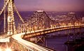 San Francisco Oakland Bay Bridge at Royalty Free Stock Photo