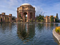 San francisco palace of fine arts reflecting pool and the in Royalty Free Stock Photography