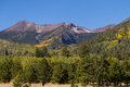 San francisco peaks in autumn the near flagstaff arizona Stock Image