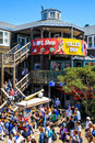 San francisco pier food and shops summer crowds check out the shopping options along located at the edge of famous fisherman's Royalty Free Stock Photography