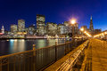 San francisco from pier seven romantic view of at night Stock Photos