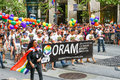 San francisco pride parade diverse groups oram the organization for refuge asylum migration walking in the gay the largest in the Stock Images