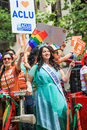 San francisco pride parade plus america miss california lesbian gay bisexual and transgender members and supporters of the Stock Photography
