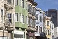 San Francisco residential neighborhood California. Royalty Free Stock Photo