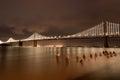 San Francisco`s Bay Bridge Royalty Free Stock Photo