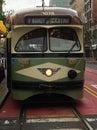 San Francisco`s beautiful, colorful PCC streetcar, 3.