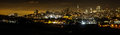 San Francisco Skyline from Fort Point at Night Royalty Free Stock Photo
