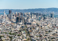San francisco skyline and market street city of from twin peaks Stock Photo