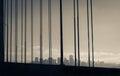 San francisco skyline from oakland bay bridge Stock Images