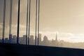San francisco skyline from oakland bay bridge Royalty Free Stock Image