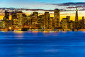 San francisco skyline at sunset california usa Royalty Free Stock Photography