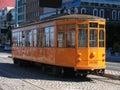 San Francisco Street Car on Cobblestone Road Royalty Free Stock Photo
