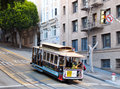 San francisco tram city simbol the vintage Stock Photography