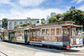 San francisco united states july authentic san franci tram on parking place on in california Stock Photo