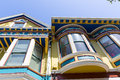 San francisco victorian houses in haight ashbury california of usa Stock Images