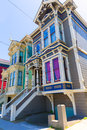 San francisco victorian houses in pacific heights california of usa Stock Image