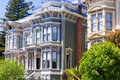 San francisco victorian houses in pacific heights california of usa Royalty Free Stock Image