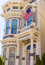San francisco victorian houses in pacific heights california of usa Stock Photo