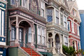 San francisco victorian row houses Stock Afbeeldingen