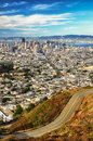 San Francisco view from twin peaks Royalty Free Stock Photo
