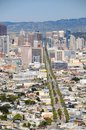 San francisco view twin peaks hill us Royalty Free Stock Photo