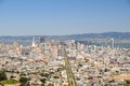 San francisco view twin peaks hill us Stock Photos