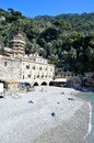 San fruttuoso abbey in camogli liguria italy unesco Royalty Free Stock Images