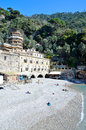San fruttuoso abbey in camogli liguria italy unesco Stock Photo